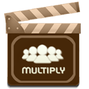 movie, multiply Maroon icon