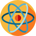Electron, physics, education, science, Atom, nuclear, Atomic SandyBrown icon