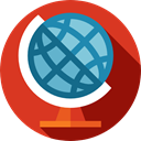 Earth Globe, Earth Grid, planet, Maps And Location, Geography, Planet Earth, Maps And Flags Crimson icon