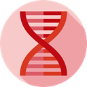Biology, medical, dna, education, Genetical, Healthcare And Medical, Deoxyribonucleic Acid, science, Dna Structure Pink icon