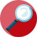 magnifying glass, Tools And Utensils, detective, Loupe, miscellaneous, zoom, search IndianRed icon