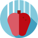 food, organic, Food And Restaurant, Fruit, education, gravity, Apple, Healthy Food, diet SkyBlue icon