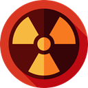signs, Radioactive, radiation, Energy, industry, power, Alert, nuclear Crimson icon