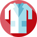 Doctor Coat, hospital, clothing, Clothes, fashion IndianRed icon