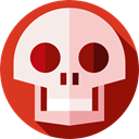 dangerous, signs, Healthcare And Medical, Anatomy, Dead, medical, Poisonous, skull Pink icon