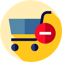 commerce, Shopping Store, remove, shopping cart, online store, Commerce And Shopping, Supermarket Moccasin icon