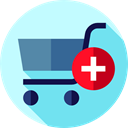 commerce, Supermarket, Shopping Store, online store, Commerce And Shopping, shopping cart PaleTurquoise icon