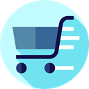 Supermarket, Shopping Store, shopping cart, online store, Commerce And Shopping, commerce SkyBlue icon