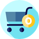 shopping cart, commerce, online store, Shopping Store, Commerce And Shopping, Supermarket PaleTurquoise icon