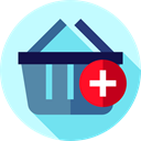 commerce, Commerce And Shopping, shopping basket, online store, Add, Supermarket, Shopping Store PaleTurquoise icon
