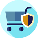 secure, commerce, shopping cart, online store, Supermarket, Shopping Store, Commerce And Shopping PaleTurquoise icon