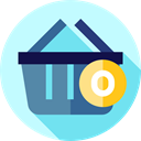 Supermarket, shopping basket, commerce, Commerce And Shopping, online store, Shopping Store PaleTurquoise icon