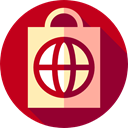 shopping, shopping bag, Shop, Supermarket, Container, online shop, paper bag, Commerce And Shopping, online store Firebrick icon