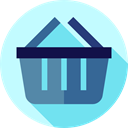 shopping basket, online store, Commerce And Shopping, Supermarket, Shopping Store, commerce PaleTurquoise icon