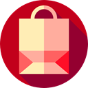 Commerce And Shopping, paper bag, online shop, shopping bag, Supermarket, online store, Container, Shop, shopping Firebrick icon