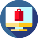 monitor, Multimedia, screen, Commerce And Shopping, online shopping, web page, website, technology, online shop, shopping cart, Business SteelBlue icon