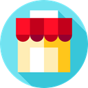 Business, store, food, Commerce And Shopping, Shop, commerce SkyBlue icon