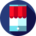 shopping bag, smartphone, commerce, online shop, screen, Supermarket, Commerce And Shopping DarkSlateBlue icon
