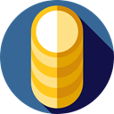 Coin Stack, Cash, Coins, stack, banking, Business And Finance, Business, Bag, Bank, Currency SteelBlue icon