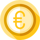 Euro, Cash, Business, Money, Business And Finance, coin, Currency Khaki icon