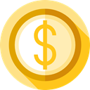 Money, coin, Cash, Currency, Business, Business And Finance, Dollar Khaki icon