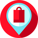 Shop, envelopes, store, Email, placeholder, mail, Message, envelope, Maps And Location, Multimedia Crimson icon