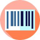 Commerce And Shopping, Barcode, horizontal, Products, Price LightPink icon