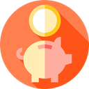 Cash, banking, piggy bank, Business, Bank, savings, Business And Finance Coral icon