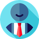 Telemarketer, Avatar, people, user, customer service, support SkyBlue icon