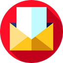 Multimedia, Email, envelope, Message, mail, Communications, envelopes Firebrick icon