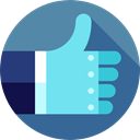 Gestures, Like, Hands, thumb up, Finger, Hands And Gestures SteelBlue icon