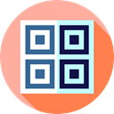 Code, qr code, technology, Quick Response, Multimedia, scan, ui LightPink icon