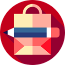 Supermarket, Shopper, Bag, Commerce And Shopping, commerce, shopping, shopping bag, Business Firebrick icon