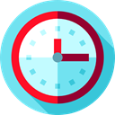Clock, watch, tool, time, Tools And Utensils, miscellaneous SkyBlue icon