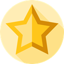Favourite, Shapes And Symbols, rate, signs, Favorite, star, interface, shapes Moccasin icon