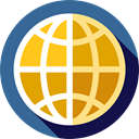 Globe Grid, Maps And Location, interface, world, Earth Globe, Multimedia, Earth Grid, worldwide, Wireless Internet SteelBlue icon