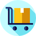 Delivery, Shipping And Delivery, trolley, Cart, Delivery Cart, Loads, deliver, items, heavy PaleTurquoise icon