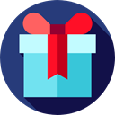 present, gift, surprise, Birthday And Party, Christmas Presents, birthday DarkSlateBlue icon