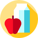 Commerce And Shopping, Grocery, Food And Restaurant, Apple, Shopping Store, Supermarket, Goods, milk, groceries, food Icon