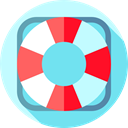 lifeguard, security, help, Lifesaver, Floating, lifebuoy, miscellaneous SkyBlue icon