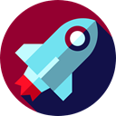 Space Ship, transportation, Rocket Launch, Business, Rocket Ship, Spacecrafts, Rocket, transport Brown icon