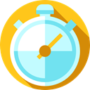 Tools And Utensils, interface, timer, time, Chronometer, Wait, stopwatch, miscellaneous PaleTurquoise icon