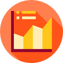 Business, Business And Finance, graph, Stats, statistics, finances, graphic OrangeRed icon