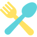 Cutlery, Restaurant, Knife, Tools And Utensils, Food And Restaurant, Fork MediumTurquoise icon