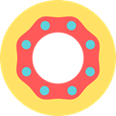 food, baker, doughnut, Dessert, sweet, Food And Restaurant, donut Khaki icon