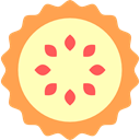 Food And Restaurant, sweet, pie, food, Bakery, Dessert LemonChiffon icon