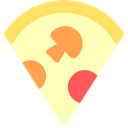 piece, Food And Restaurant, food, dough, slice, Italian Food, Pizza LemonChiffon icon