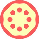 Pizza, slice, food, Food And Restaurant, piece, Italian Food, dough LemonChiffon icon