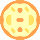 piece, slice, Food And Restaurant, Pizza, food, dough, Italian Food LemonChiffon icon
