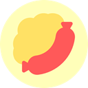 Fast food, food, Barbecue, Sausage, Food And Restaurant, junk food, meat LemonChiffon icon